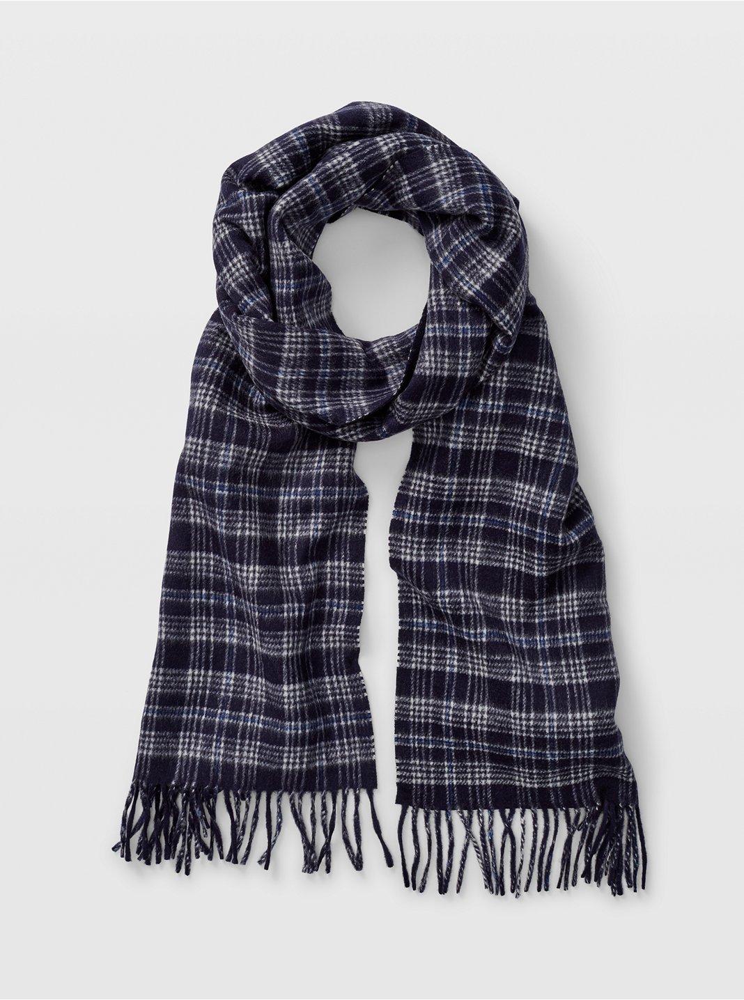 Double-Faced Duo Check Scarf