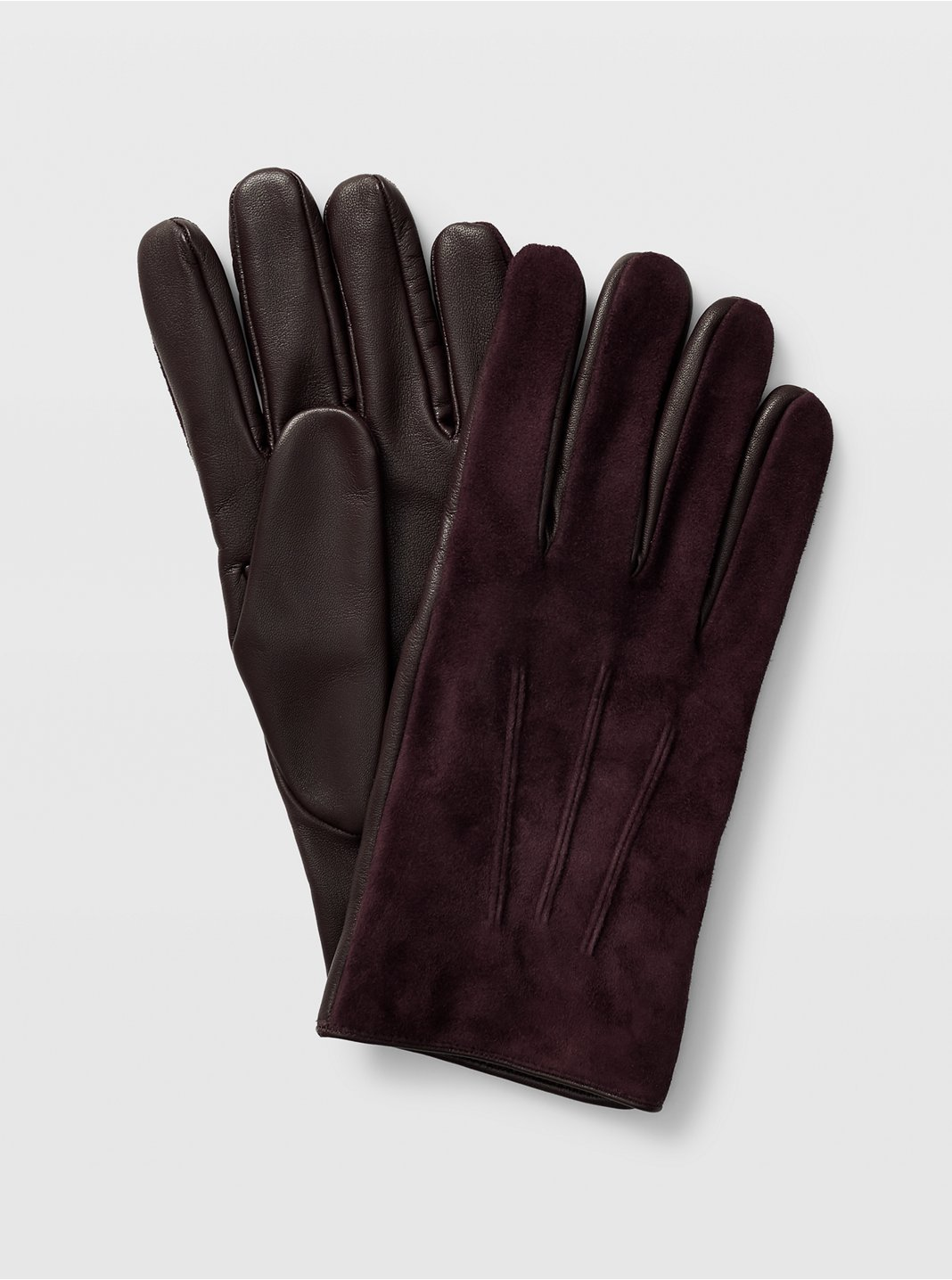 Suede Blocked Glove