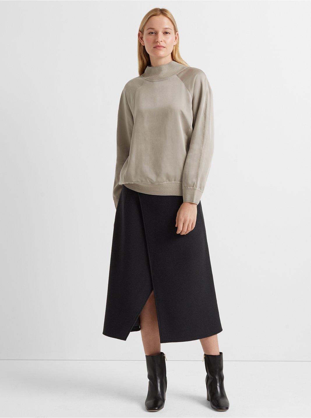 Rib-Trim Pullover