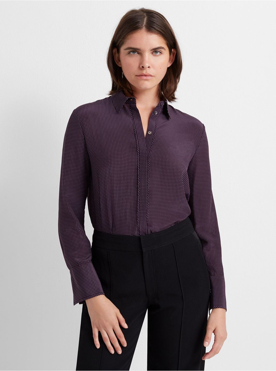 Tonal Edge Silk Shirt