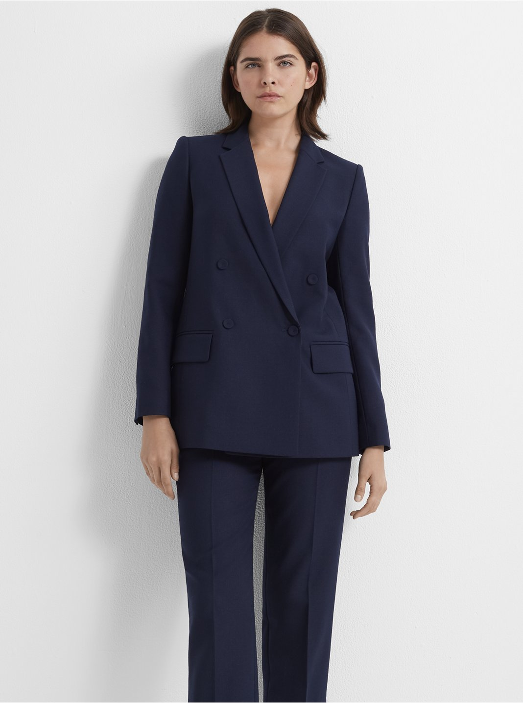 Self-Covered Button Blazer