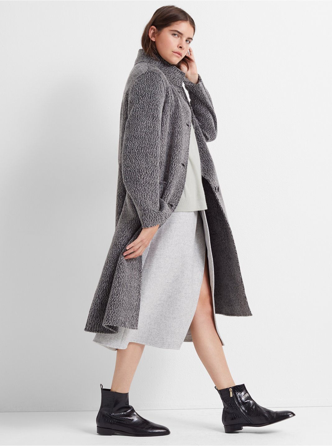 Textured Double-Faced Coat