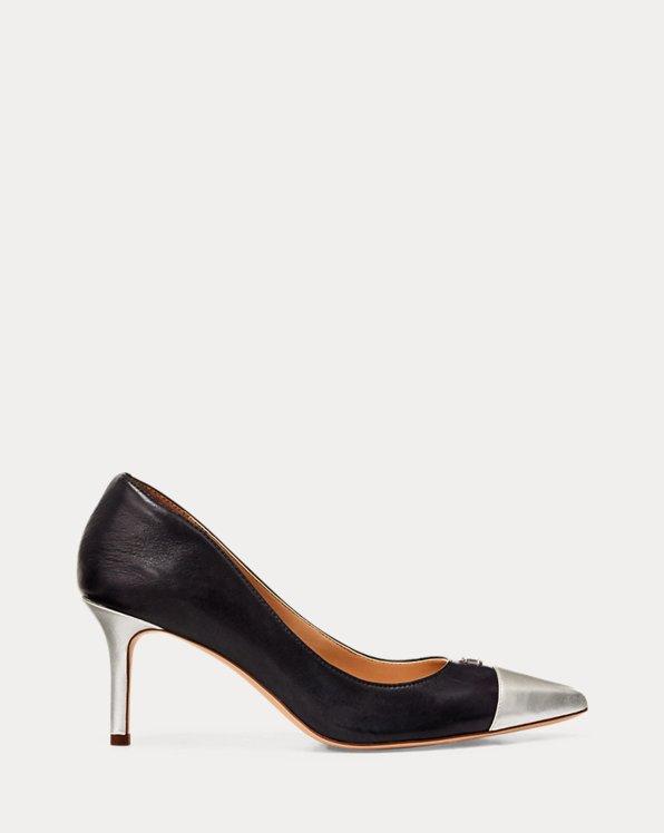 Lanette Leather Toe-Cap Pump