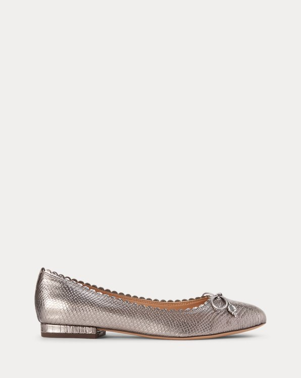 Glennie Metallic Leather Flat