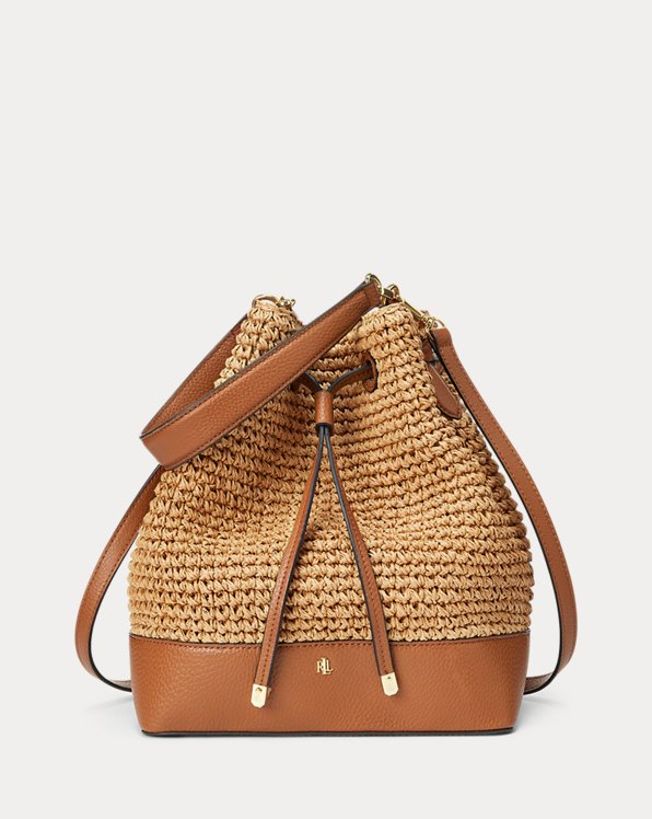 Straw Debby Drawstring Bag