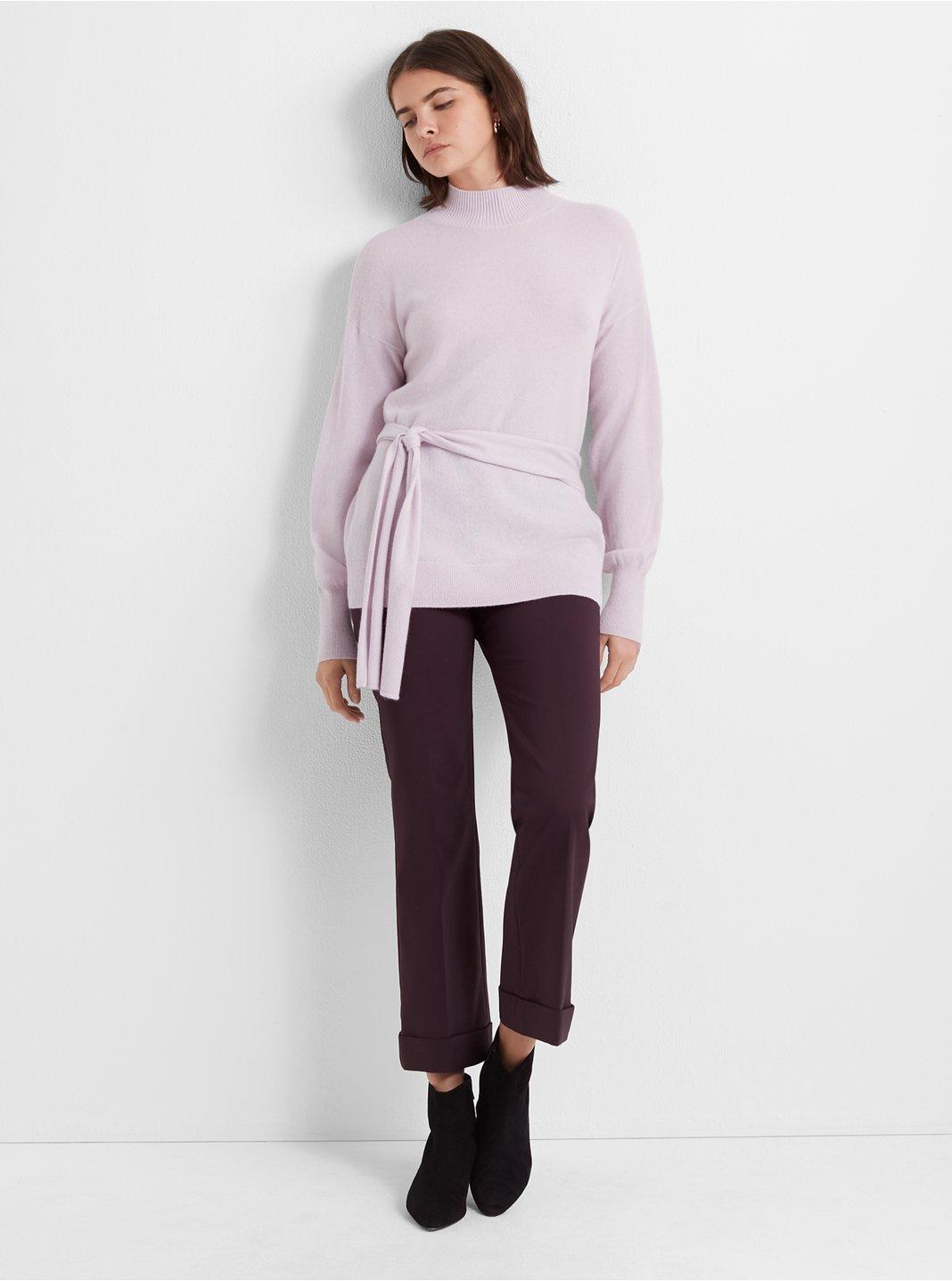 Tie-Waist Cashmere Sweater