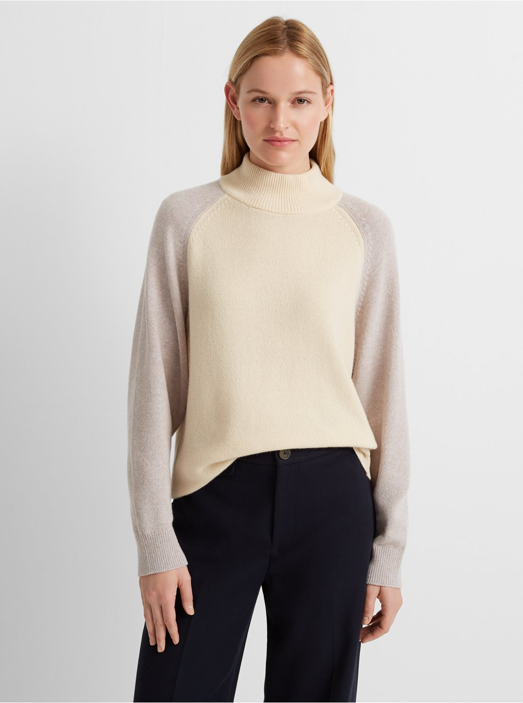 Colorblock Mockneck Sweater