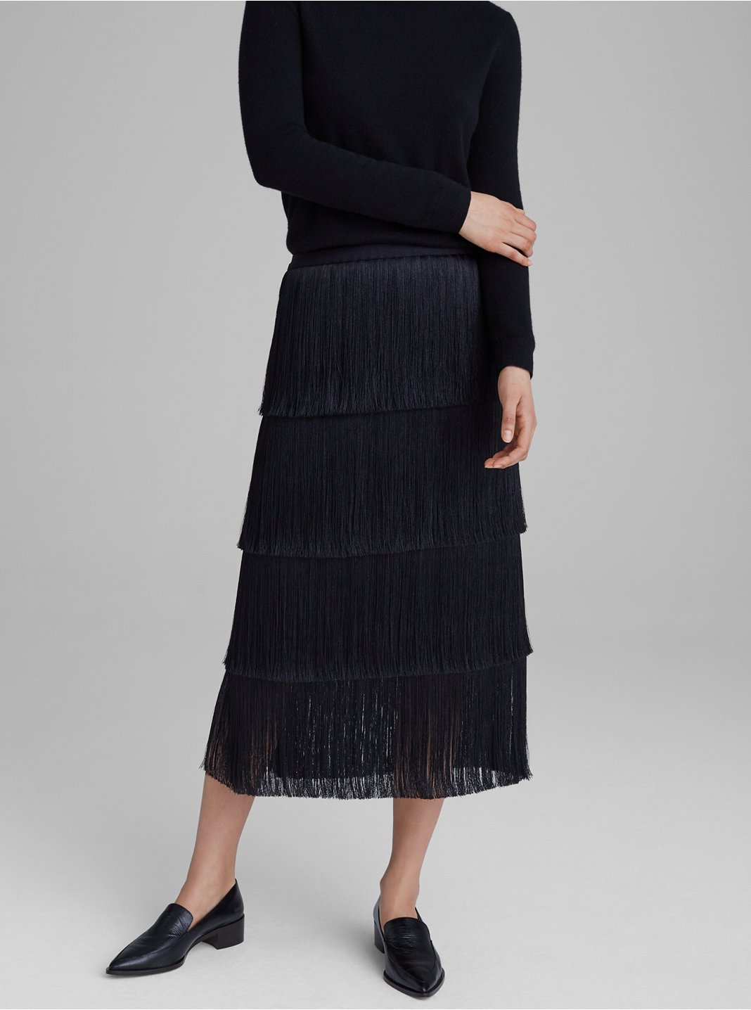 Midi Fringe Skirt