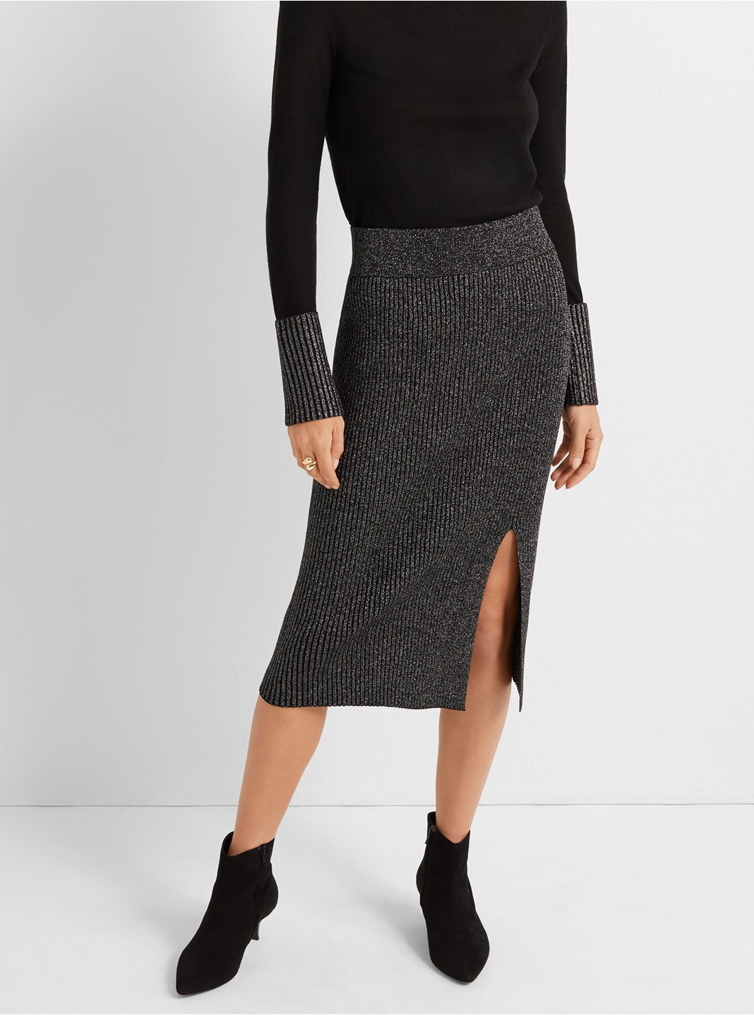 Lurex Pencil Skirt