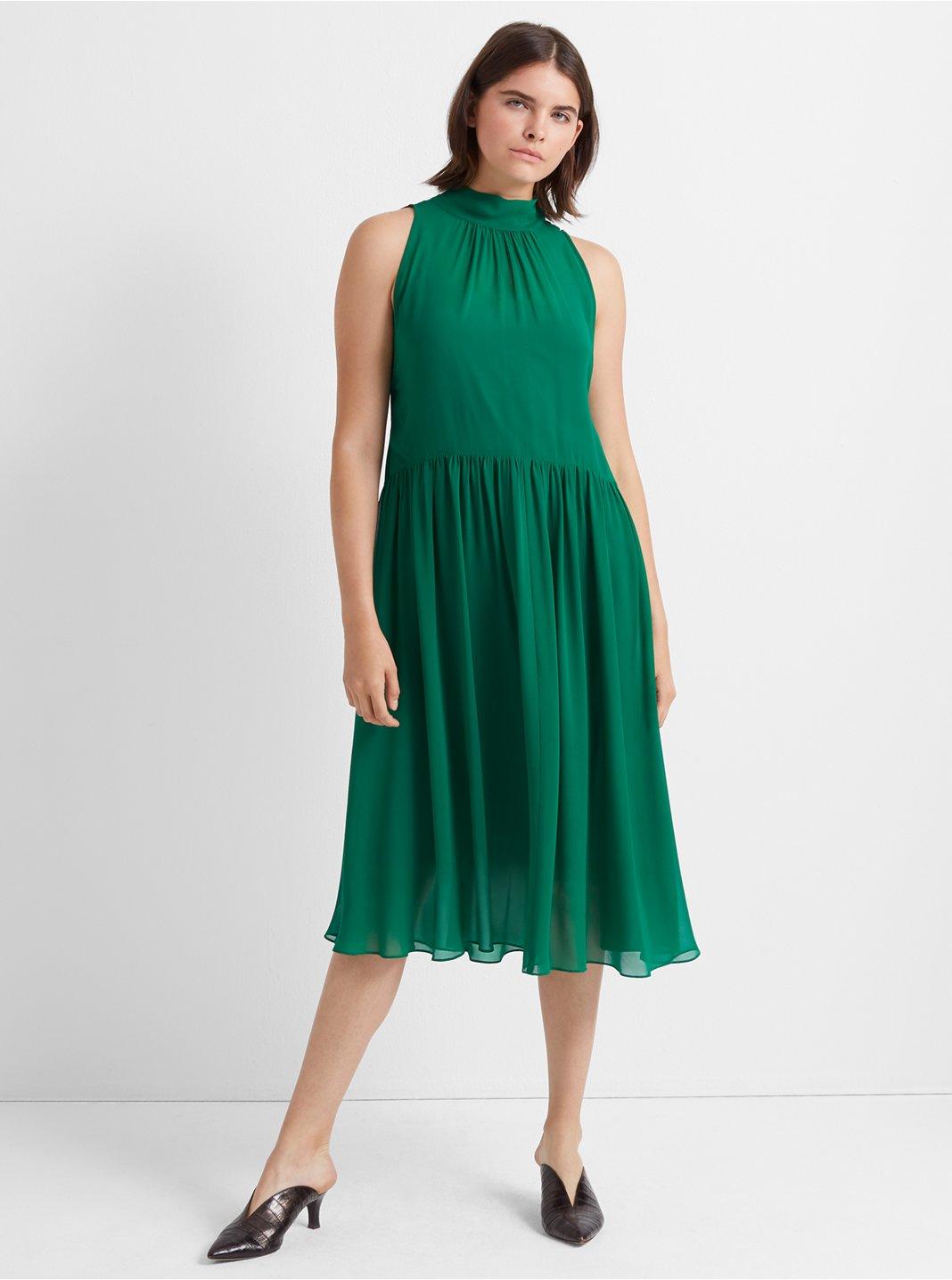 Silk Tie-Back Dress