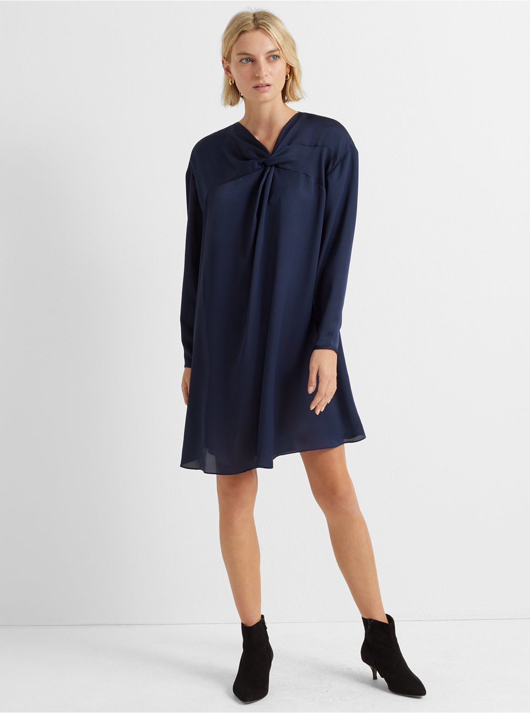 Twist Front Yoke Dress