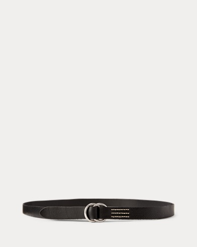 Skinny Leather O-Ring Belt