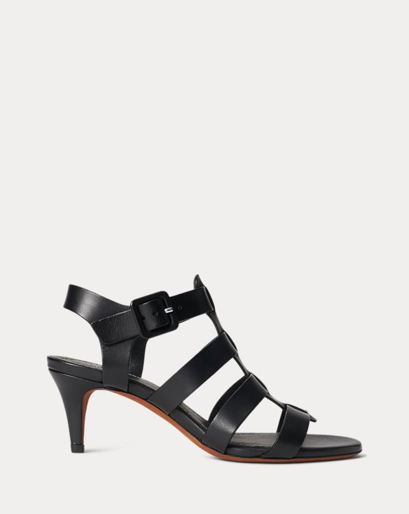 Sandale aus Vachetteleder