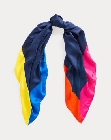 Colour-Blocked Scarf