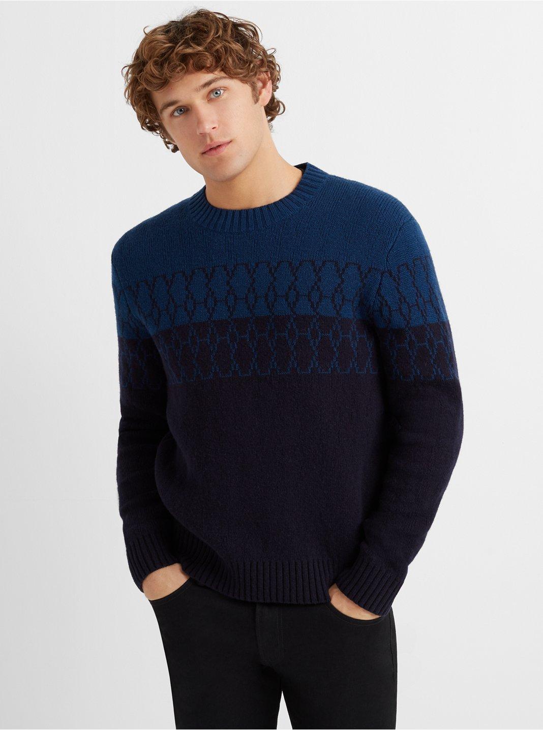 Geo Line Crewneck Sweater