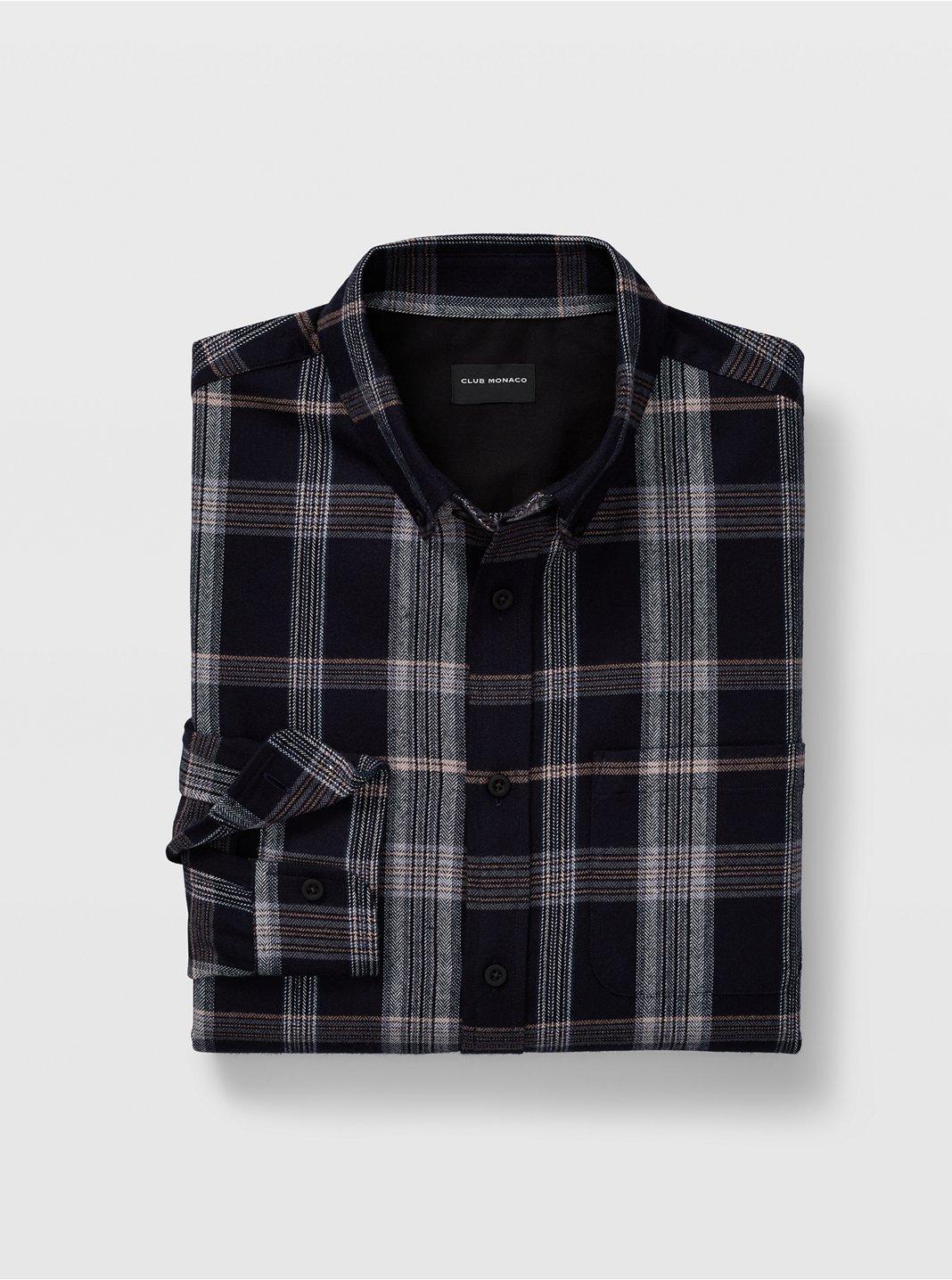 Slim Tonal Plaid Shirt