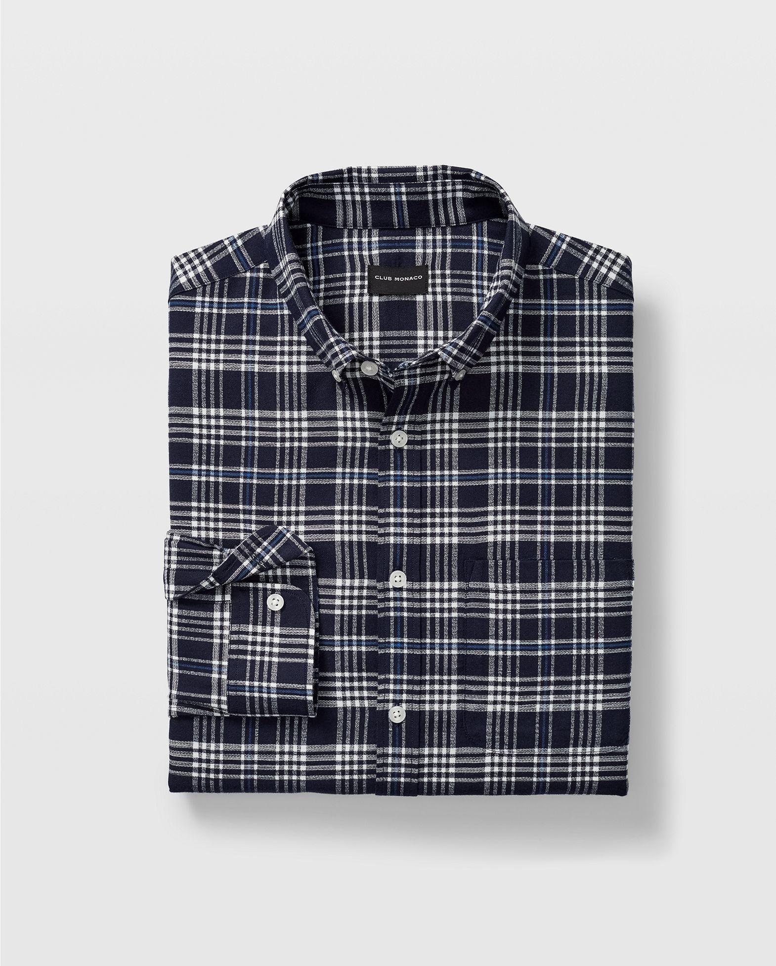 Plaid >> Slim Glen Plaid Flannel Shirt