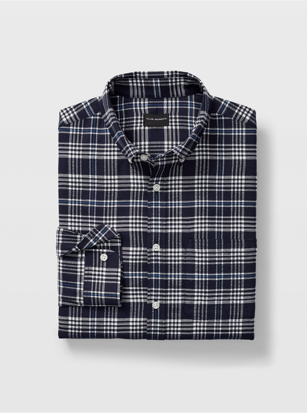 Slim Glen Plaid Flannel Shirt