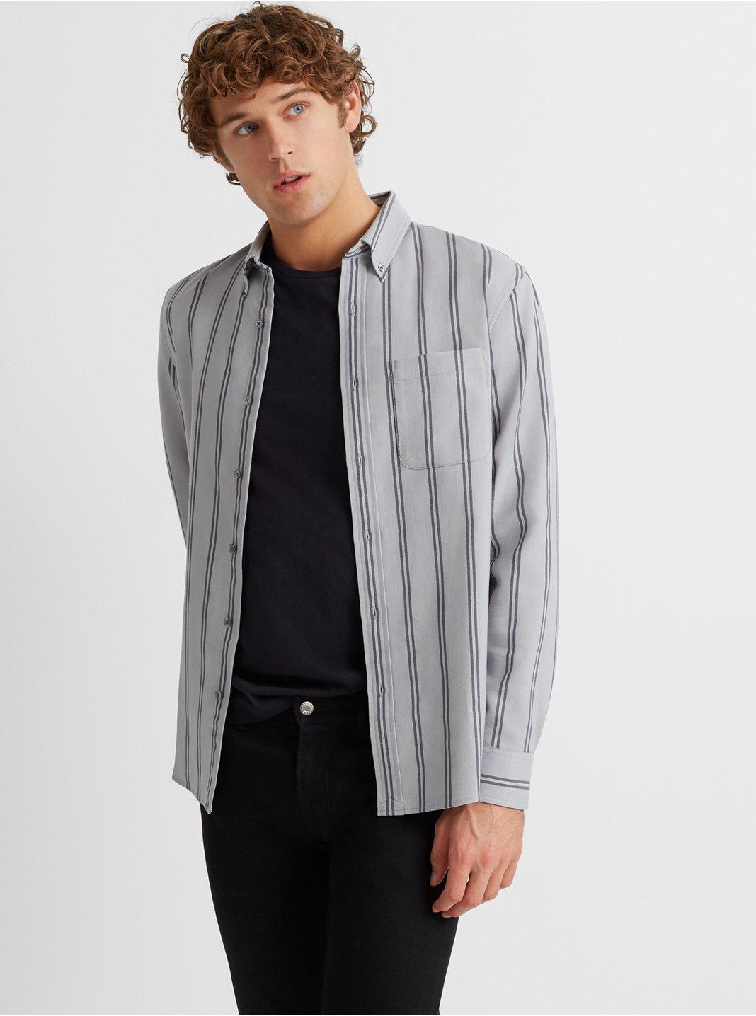 Slim Twill Striped Shirt