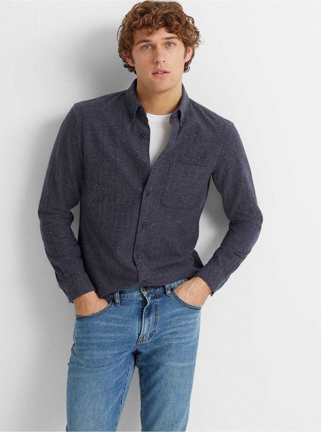 Slim Donegal Herringbone Shirt