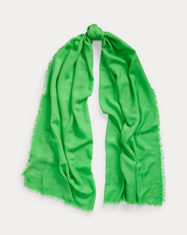 Polo Ralph Lauren Fringe Wool-Blend Scarf