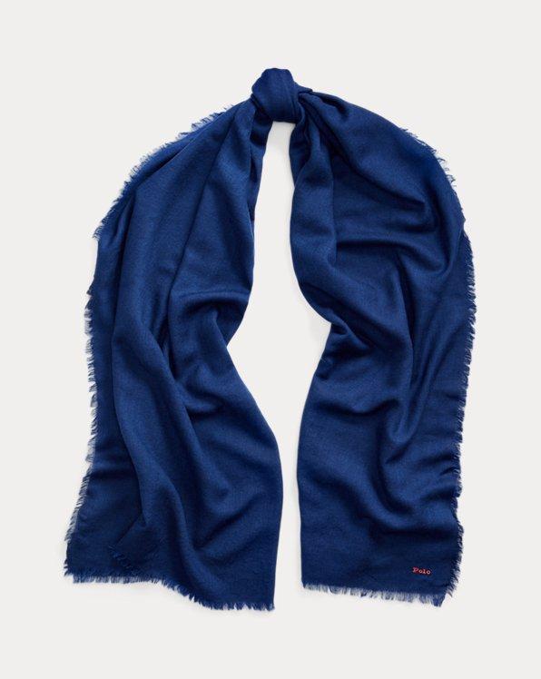Fringe Wool-Blend Scarf
