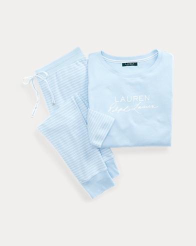 Cotton-Blend Pajama Pant