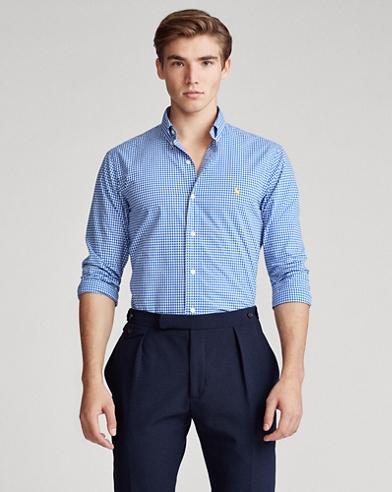 Slim-FitPopelinehemd mit Ginganmuster