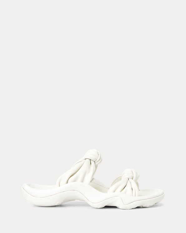 Knotted-Strap Leather Sandal