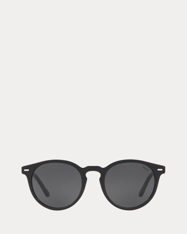 Striped Panto Sunglasses
