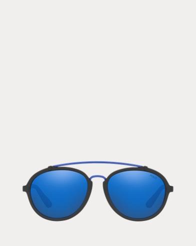Colour-Blocked Pilot Sunglasses