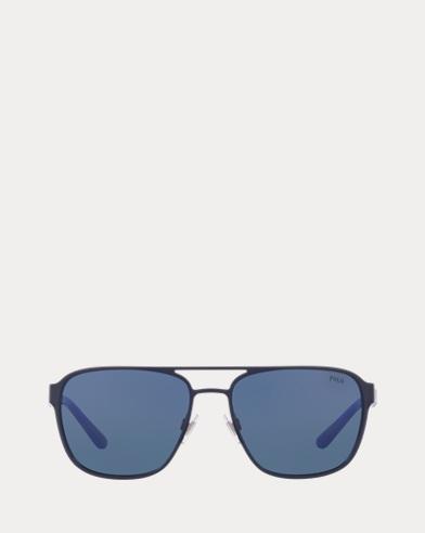 Striped Navigator Sunglasses