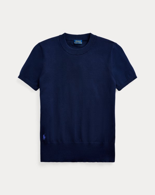Cotton Short-Sleeve Jumper