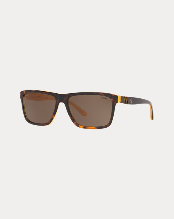 Striped Rectangular Sunglasses