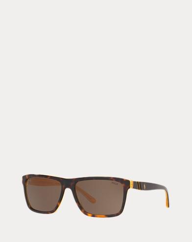 Striped Rectangular Sunglasses