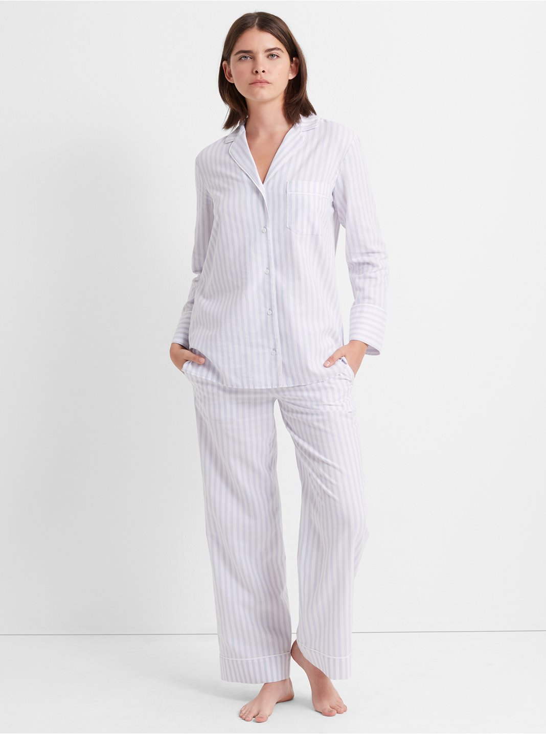 Thin Stripe Sleep Top