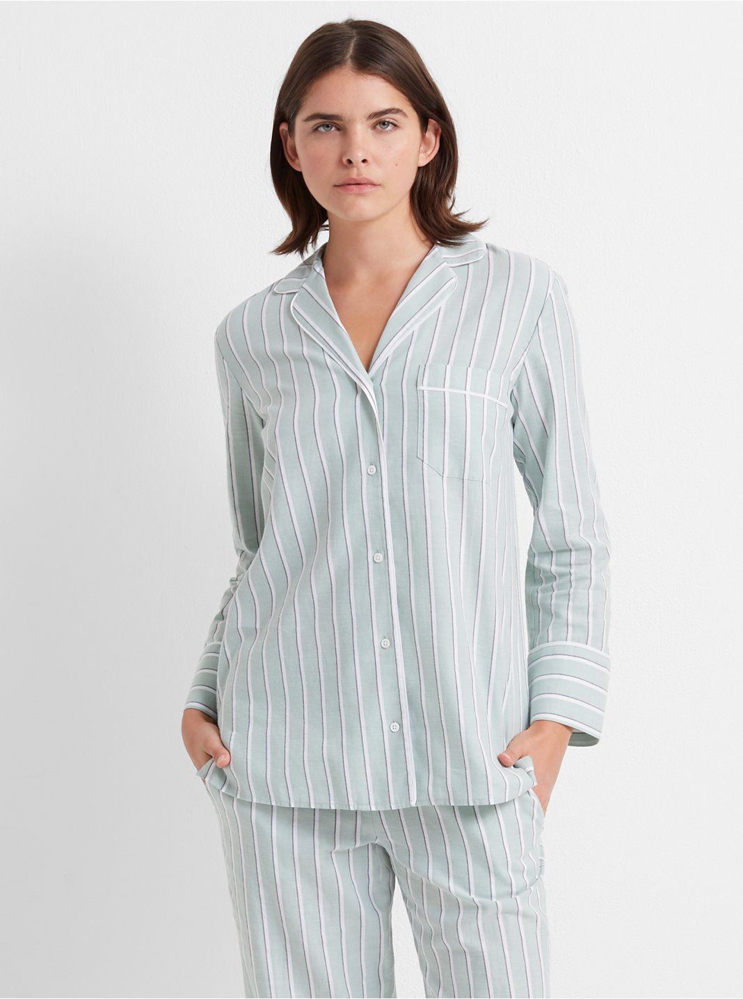Wide Stripe Sleep Top