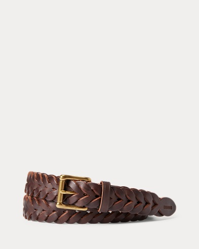 Braided Vachetta Leather Belt