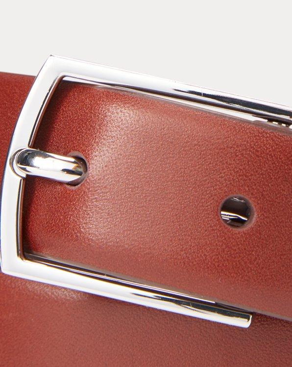 Polo-Plaque Calfskin Belt