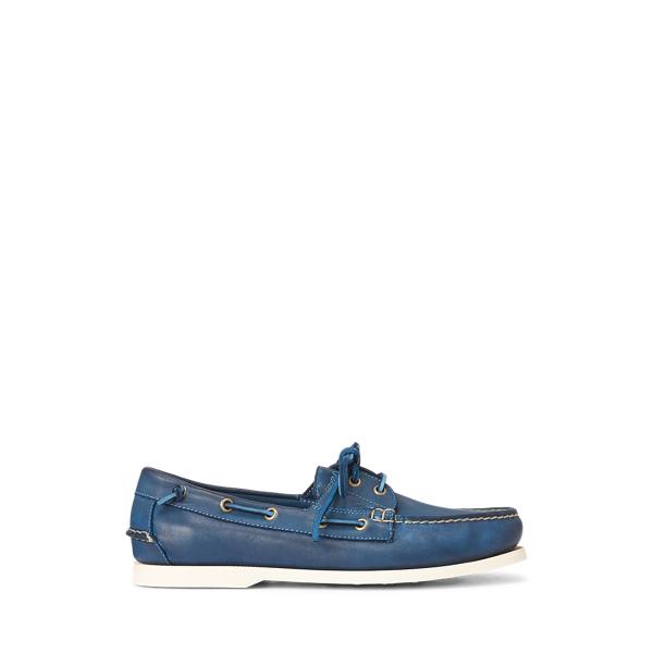 폴로 랄프로렌 보트 슈즈 Polo Ralph Lauren Merton Leather Boat Shoe,Newport Navy