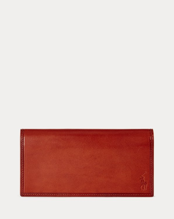 Burnished Leather Long Wallet