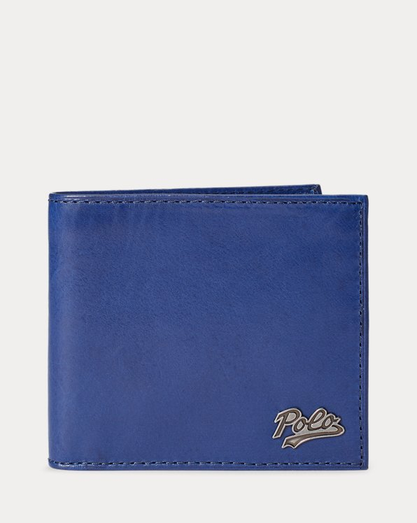 Repp-Stripe Leather Wallet