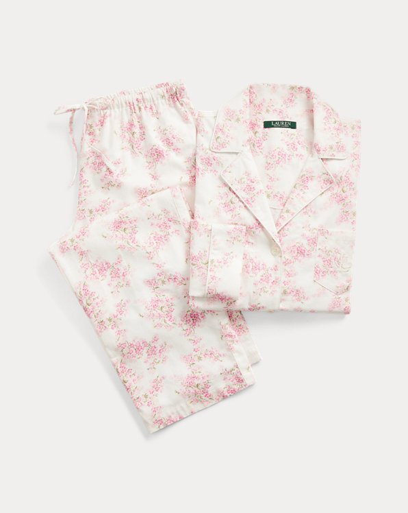 Floral Cotton Twill Pyjama Set