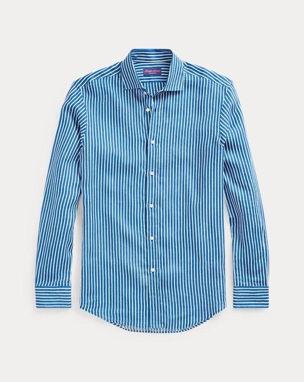 Stripe-Print Linen Shirt