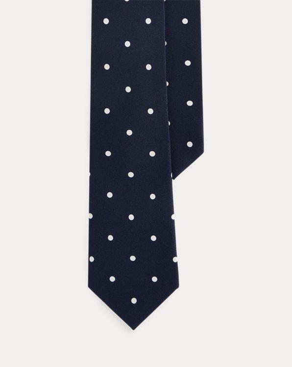 Polka-Dot Silk Crepe Tie