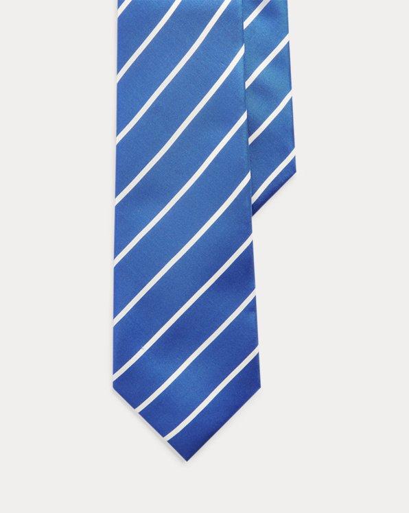 Striped Silk Habutai Tie