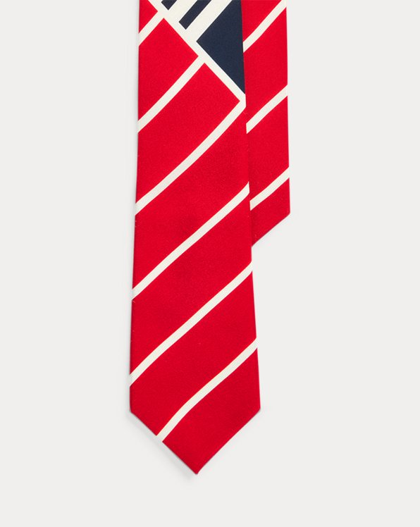 Regimental Art Deco Silk Tie