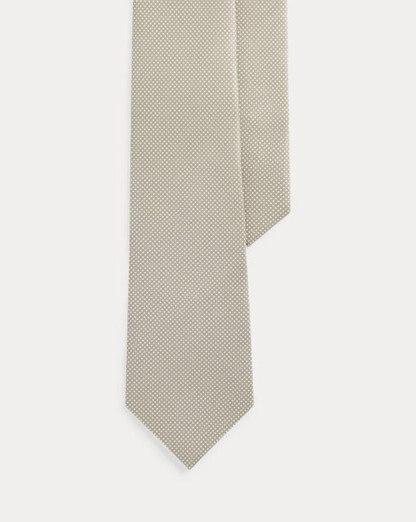 Pin Dot Silk Foulard Tie