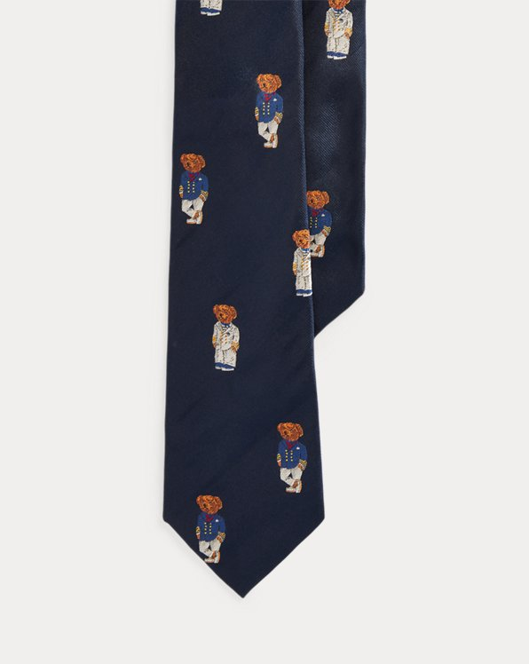 Nautical Bear Silk Tie