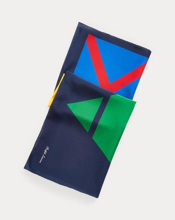 Foulard in seta a motivo geometrico